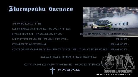 New menu para GTA San Andreas décimo tela