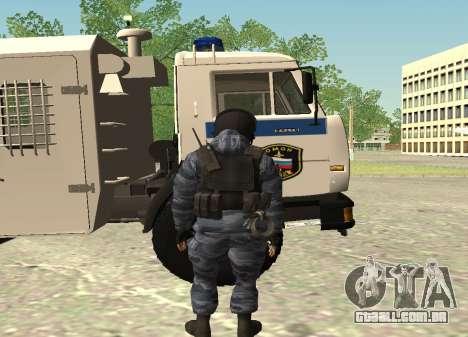 A polícia de choque-Berkut (Rússia) para GTA San Andreas segunda tela