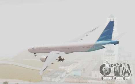 Boeing 777-300ER Garuda Indonesia para GTA San Andreas esquerda vista
