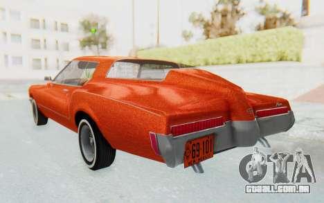 Buick Riviera 1972 Boattail Lowrider para GTA San Andreas esquerda vista
