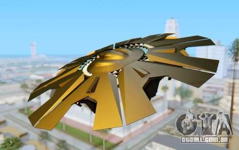 GTA 5 UFO B-2 Style para GTA San Andreas esquerda vista