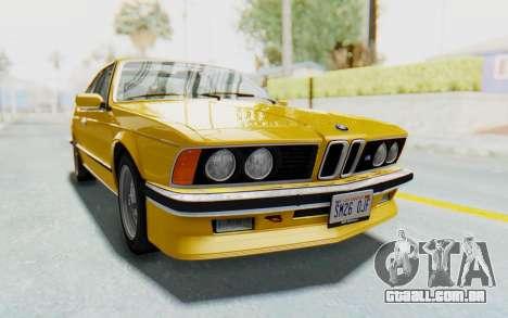BMW M635 CSi (E24) 1984 HQLM PJ2 para GTA San Andreas traseira esquerda vista