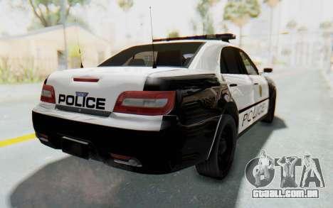 ASYM Desanne XT Pursuit v3 para GTA San Andreas esquerda vista
