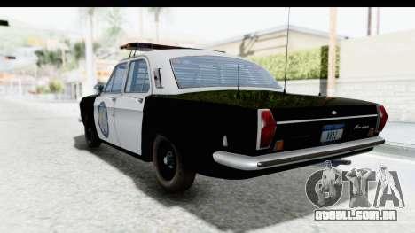ГАЗ 24 de Polícia rodoviária Patrol para GTA San Andreas esquerda vista