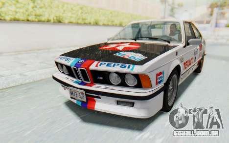 BMW M635 CSi (E24) 1984 HQLM PJ2 para vista lateral GTA San Andreas
