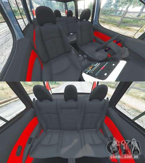 GTA 5 Fiat Doblo frente vista lateral direita