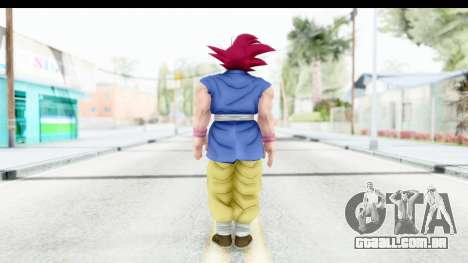 Dragon Ball Xenoverse Goku GT Adult SSG para GTA San Andreas terceira tela