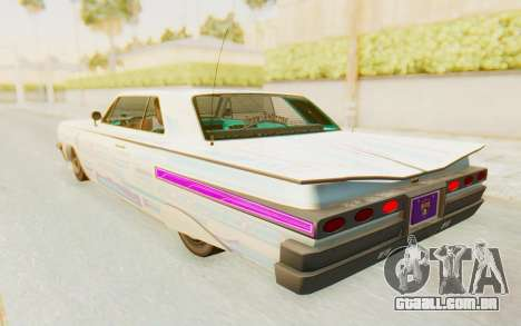 GTA 5 Declasse Voodoo Alternative v2 para GTA San Andreas interior