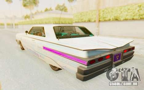 GTA 5 Declasse Voodoo para GTA San Andreas interior