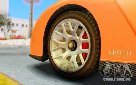 GTA 5 Grotti Cheetah IVF para GTA San Andreas vista traseira