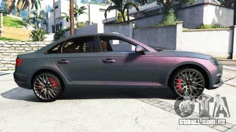 GTA 5 Audi A4 2017 [add-on] v1.1 vista lateral esquerda