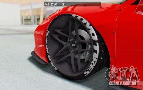 Ferrari 458 Liberty Walk para GTA San Andreas vista superior