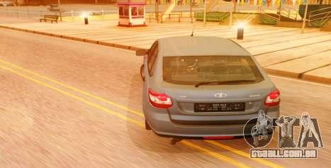 Lada Granta Liftback Beta v1 para GTA San Andreas esquerda vista