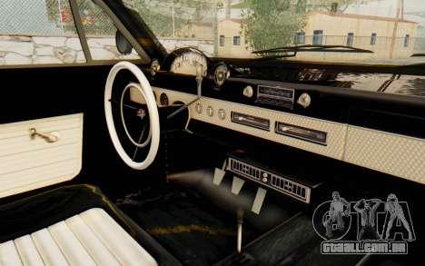 GTA 5 Declasse Voodoo para GTA San Andreas vista interior