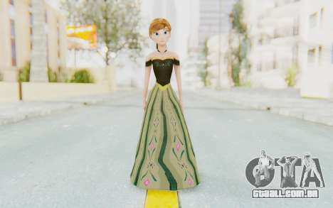 Frozen - Anna Coronation Dress para GTA San Andreas segunda tela