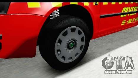Skoda Superb Táxi Vermelho para GTA San Andreas vista traseira