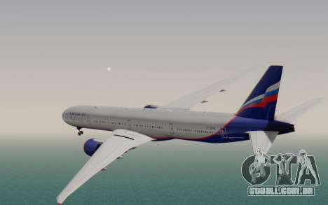 Boeing 777-300ER Aeroflot para GTA San Andreas esquerda vista