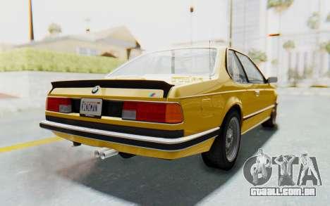 BMW M635 CSi (E24) 1984 HQLM PJ2 para GTA San Andreas esquerda vista
