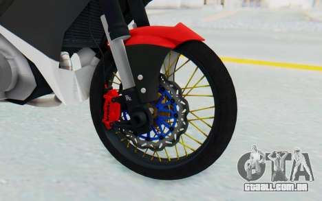 Yamaha Jupiter MX 135 Semi Roadrace para GTA San Andreas vista traseira