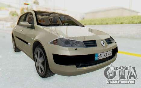 Renault Megane 2 para GTA San Andreas traseira esquerda vista