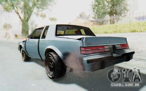 Buick GNX 1987 para GTA San Andreas esquerda vista