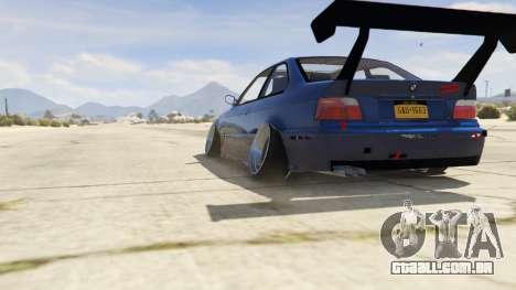 GTA 5 BMW M3 E36 DRIFTMISSILE traseira vista lateral esquerda