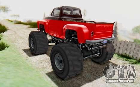 GTA 5 Vapid Slamvan XL v2.1 para GTA San Andreas esquerda vista