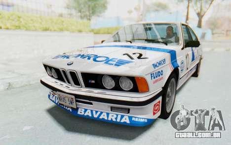 BMW M635 CSi (E24) 1984 HQLM PJ3 para GTA San Andreas vista superior