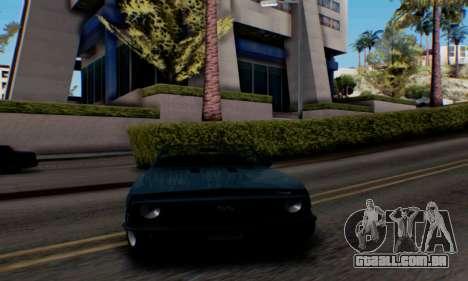 Chevrolet 369 Camaro SS para GTA San Andreas traseira esquerda vista