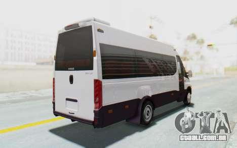 Iveco Daily Minibus 2015 para GTA San Andreas traseira esquerda vista