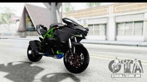 Kawasaki Ninja H2R Black para GTA San Andreas vista direita