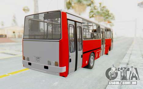 Ikarus 260 Istanbul para GTA San Andreas traseira esquerda vista