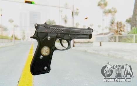 Tariq Iraqi Pistol Back v1 Silver para GTA San Andreas segunda tela