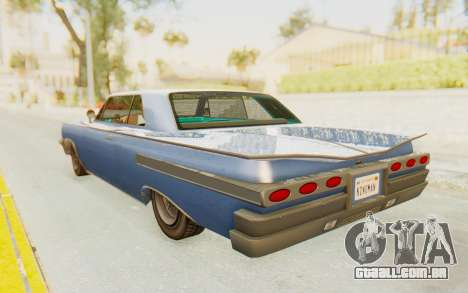 GTA 5 Declasse Voodoo Alternative v2 PJ para GTA San Andreas esquerda vista