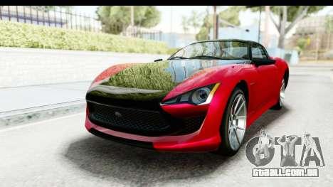 GTA 5 Lampadati Furore GT IVF para GTA San Andreas vista direita
