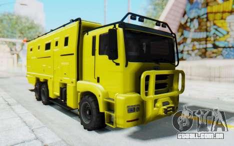 GTA 5 HVY Brickade para GTA San Andreas traseira esquerda vista