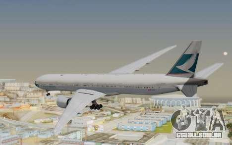 Boeing 777-300ER Cathay Pacific Airways v1 para GTA San Andreas vista direita