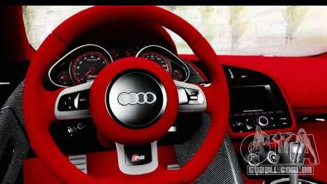 Audi R8 5.2 V10 Plus LB Walk para GTA San Andreas vista direita