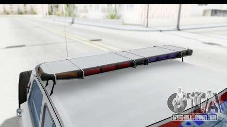 ГАЗ 24 de Polícia rodoviária Patrol para vista lateral GTA San Andreas