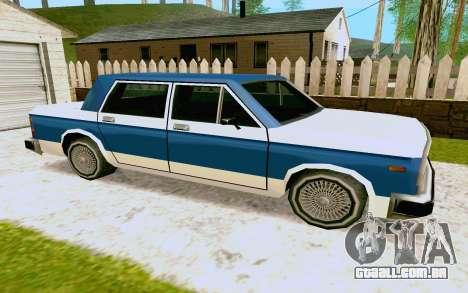 Bobcat Sedan para GTA San Andreas traseira esquerda vista