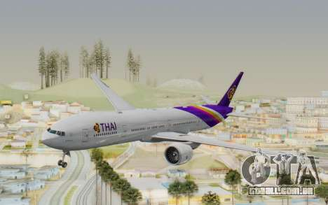 Boeing 777-300ER Thai International Airways para GTA San Andreas