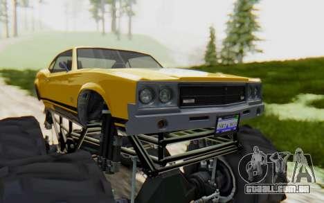 Declasse Sabre Turbo XL para GTA San Andreas vista traseira