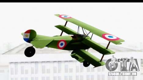 Fokker DR1 Old Paraguay Air Force para GTA San Andreas vista direita