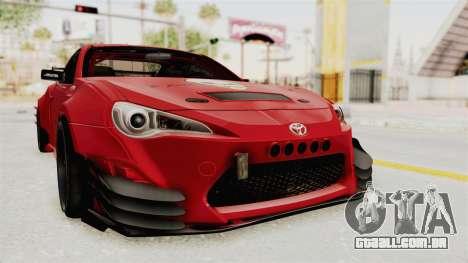 Toyota GT86 Drift Edition para GTA San Andreas vista direita