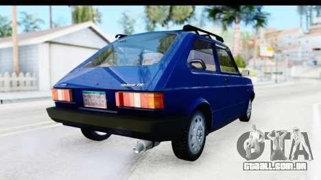 Fiat 147 Spazio TR Stock para GTA San Andreas vista direita