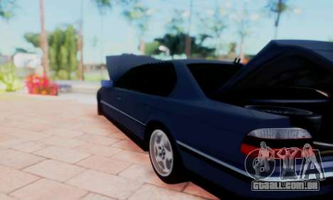 BMW 750 para vista lateral GTA San Andreas