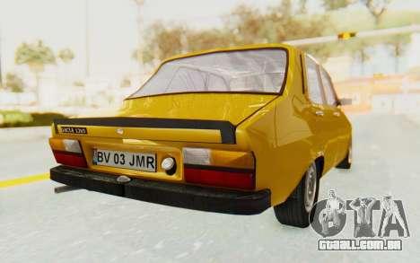 Dacia 1310 para GTA San Andreas traseira esquerda vista