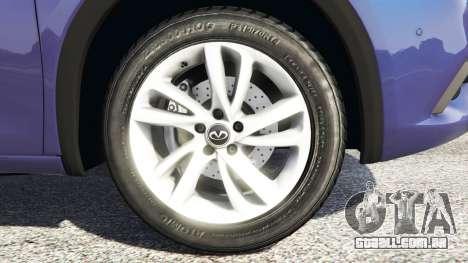 GTA 5 Infiniti Q30 2016 traseira direita vista lateral