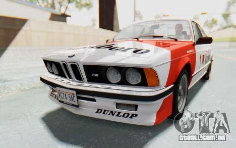 BMW M635 CSi (E24) 1984 HQLM PJ1 para GTA San Andreas vista traseira