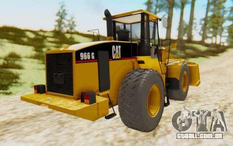 Caterpillar 966 GII para GTA San Andreas traseira esquerda vista